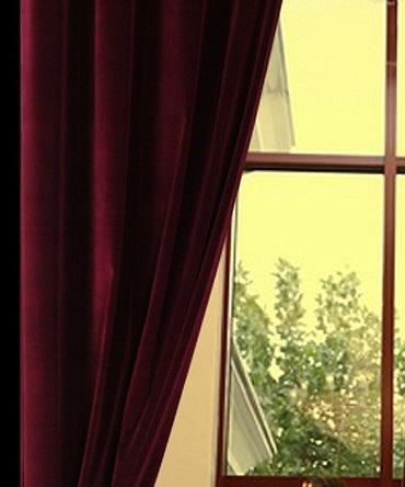 Luxury Cotton Velvet Curtains -50W X 132L-Rod Pocket