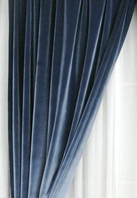 Luxury Cotton Velvet Curtains -50W X 132L-Rod Pocket