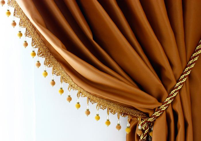 Gold Faux Silk Taffeta Blackout Curtains Panel