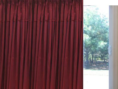 Solid Faux silk  Pinch Pleat   Patio Insulate Thermal Curtains 100W X 84L