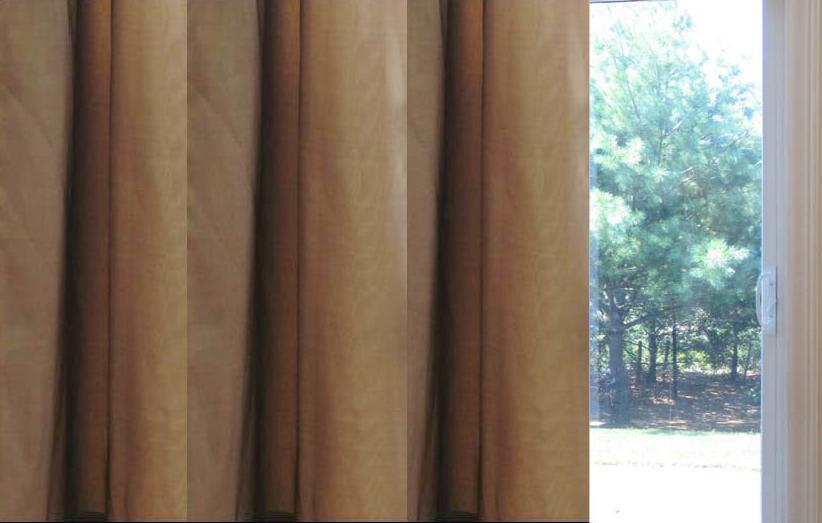 Faux Silk Taffeta   Pinch Pleat Thermal PatioThermal  Curtains 100W X 84L