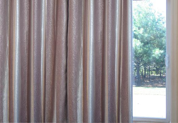 Sateen U0026 Suede/ Oversize Striped Pinch Pleat Patio Blackout Curtains 100W  ...