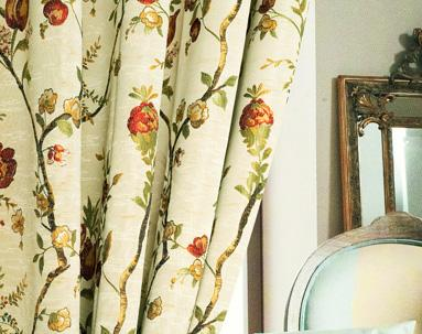 Jacquard Damask Vine Drapes and Curtains