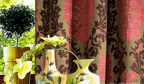 Heavy Textured Blackout Jacquard Curtains Panel with Grommet(A-134)