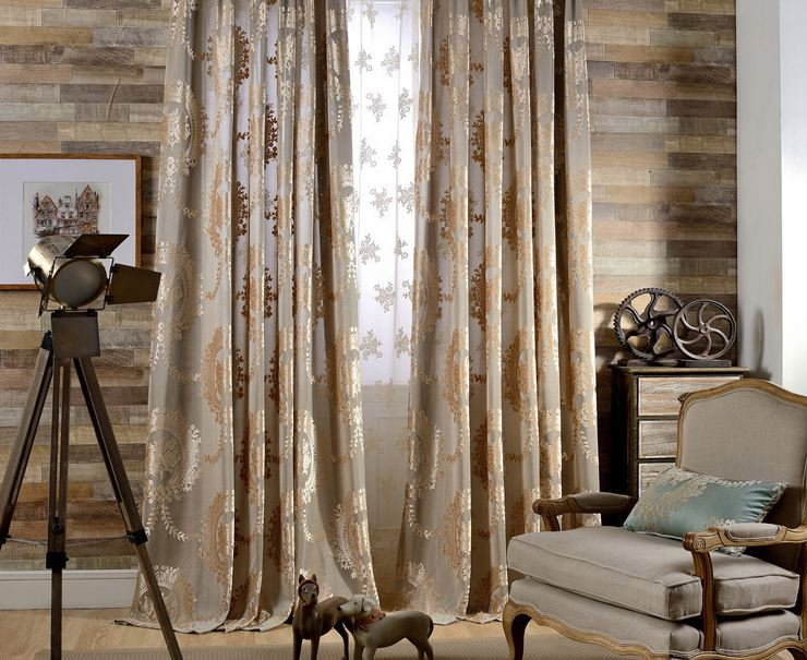 Flora l Burnout Velvet Curtains-Rod Pocket-108L