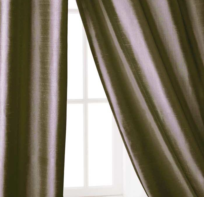 Faux Dupioni Silk Thermal Drapes- 108L