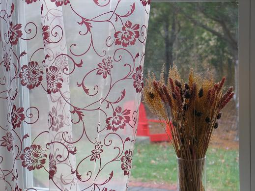 Fleur Embroidered Organza Sheer Curtains & Panels