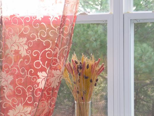 Floral Embroidered Organza Sheer Curtains & Panels