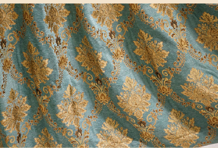 Turquoise Damask Curtains Drapes-96L